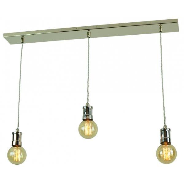 Bar Light A Row Of 3 Pendants Holding Vintage Lightbulbs