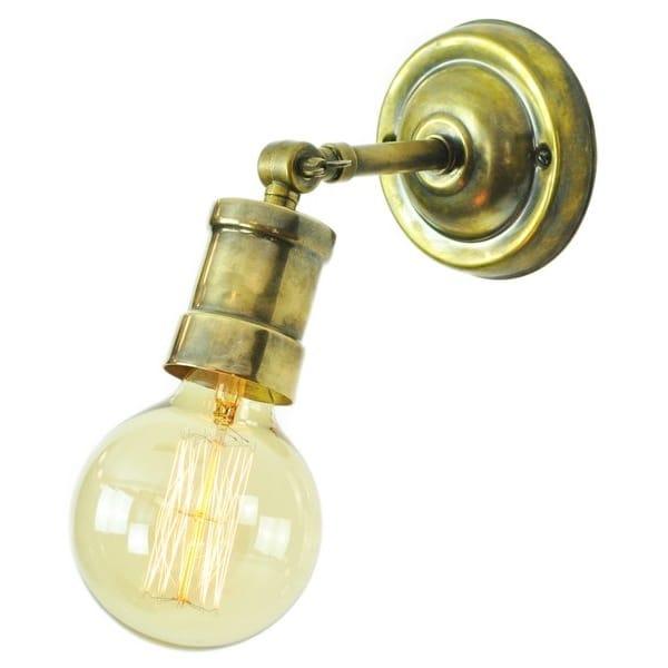 Wall Lights With Edison Bulbs : Single solid brass industrial wall spotlight, Vintage Light bulbs FREE