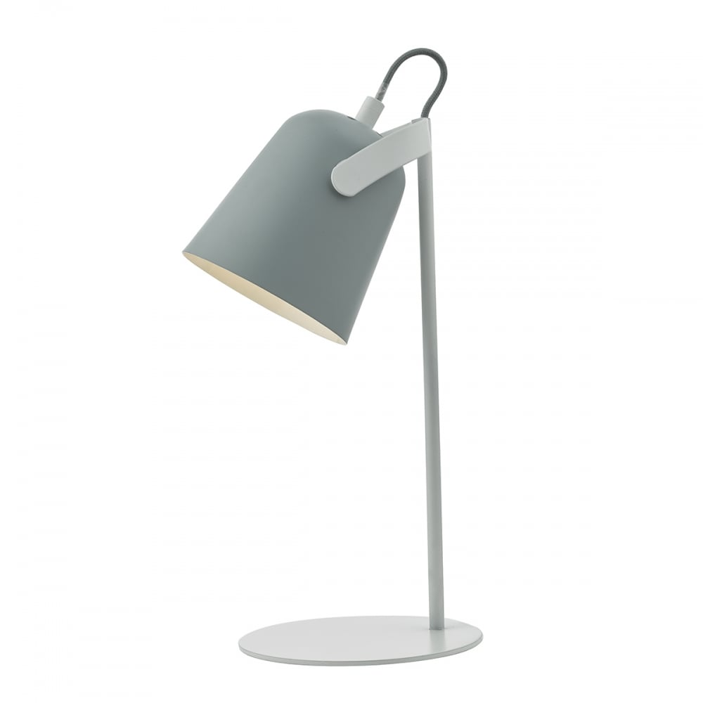 Great Retro Pale Grey And White Desk Lamp