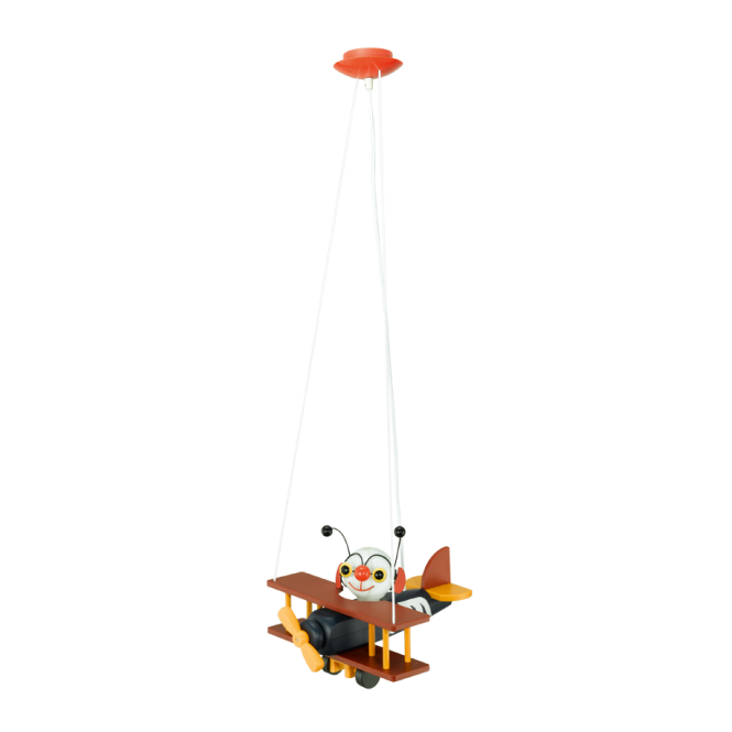 EGLO AIRMAN children's bug in an aeroplane ceiling pendant