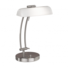 BASTIA dimmable chrome desk lamp with white shade