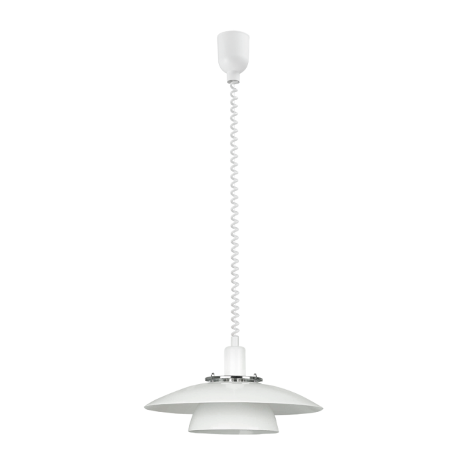 EGLO BRENDA white rise and fall ceiling pendant (2 tier)
