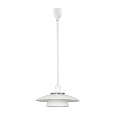 BRENDA white rise and fall ceiling pendant (2 tier)