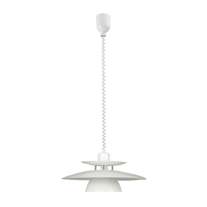 EGLO BRENDA white rise and fall ceiling pendant (3 tier)