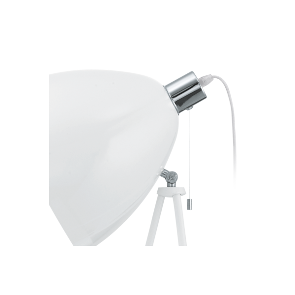Retro White Floor Lamp With Pull Cord Switch Double