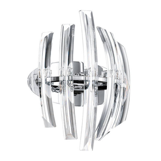 EGLO DRIFTER clear crystal ribbed wall light