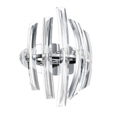 DRIFTER clear crystal ribbed wall light