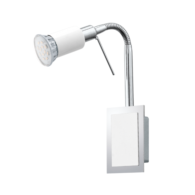 EGLO ERIDAN contemporary white and chrome LED flexible wall spot light