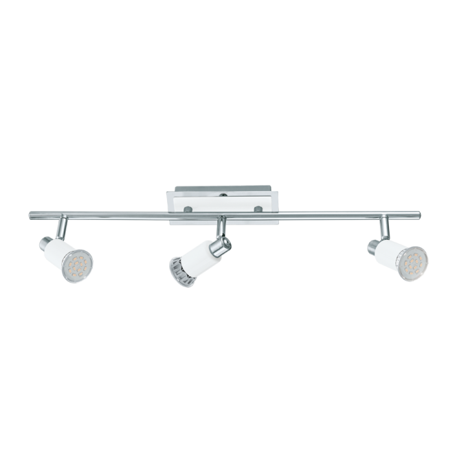 EGLO ERIDAN contemporary white and polished chrome 3 light ceiling light
