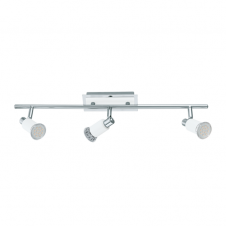 ERIDAN contemporary white and polished chrome 3 light ceiling light