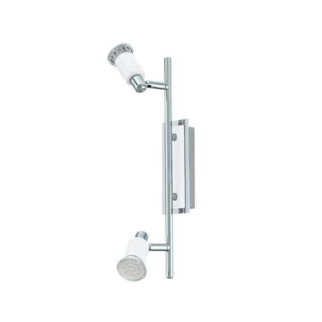 EGLO ERIDAN contemporary white and polished chrome double wall light