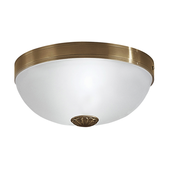 EGLO IMPERIAL traditional bronzed cast metal flush ceiling light