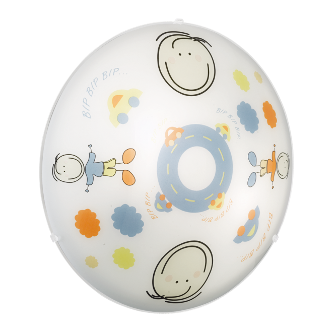 EGLO JUNIOR 2 children's car boy glass dome ceiling light