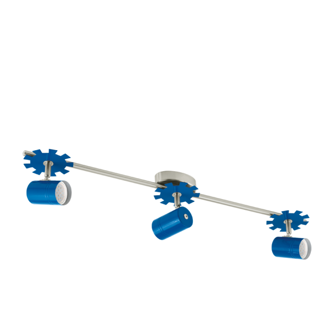 EGLO LEONIE 1 children's blue 3 light LED spot light bar