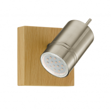 MARATEA 1 LED wood & satin nickel single spot light