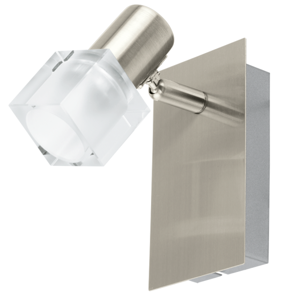 Double Insulated Led Wall Lights : Contemporary Satin Nickel LED Wall Light with Glass Shade - Class 2