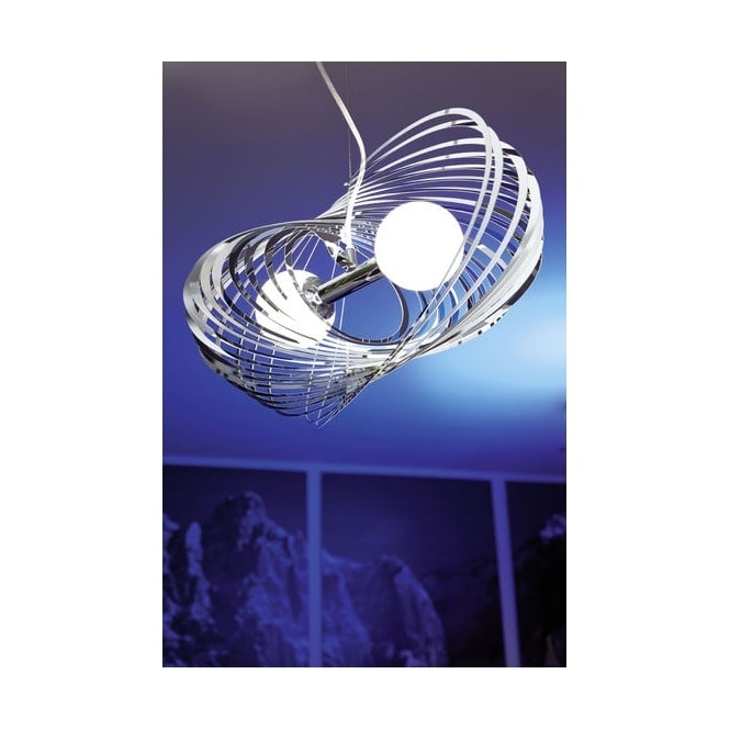 EGLO OMANO modern chrome blade ceiling pendant light