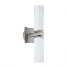 PALERMO satin nickel modern bathroom wall light