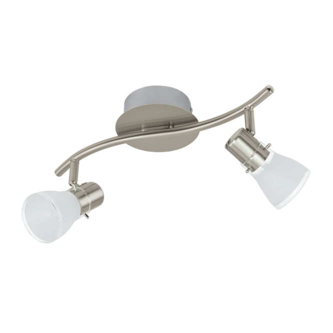 EGLO PASTENA contemporary satin nickel LED double wall spot light