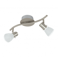 PASTENA contemporary satin nickel LED double wall spot light