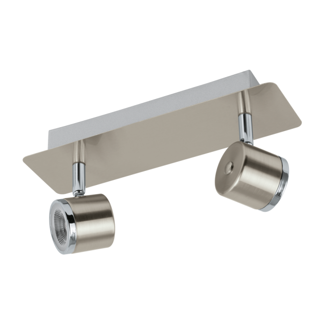 EGLO PIERINO contemporary satin nickel and chrome LED double wall spot light