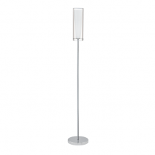 PINTO modern chrome & glass floor lamp