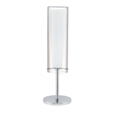 PINTO modern chrome & glass table lamp