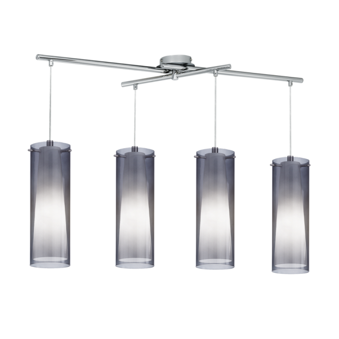 EGLO PINTO NERO modern ceiling bar pendant (4 light adjustable)