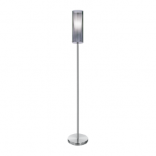 PINTO NERO modern chrome & glass floor lamp