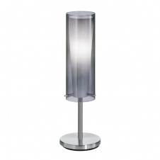 PINTO NERO modern chrome & glass table lamp