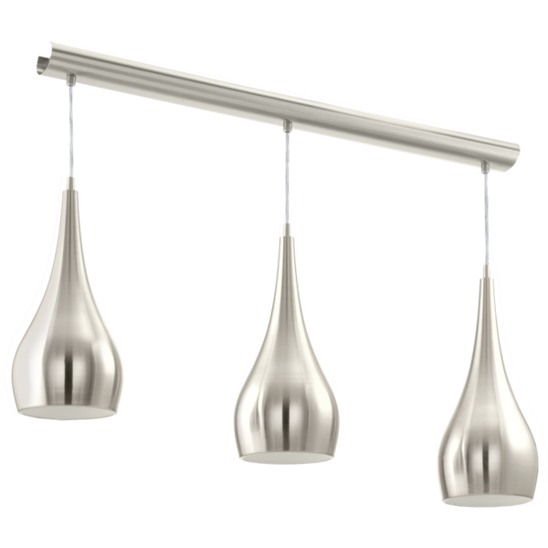 Modern 3 Light Ceiling Pendant, Ideal For Over Table Lighting