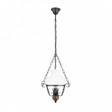 RUSTIC 7 ceiling pendant in the style of a period oil lamp