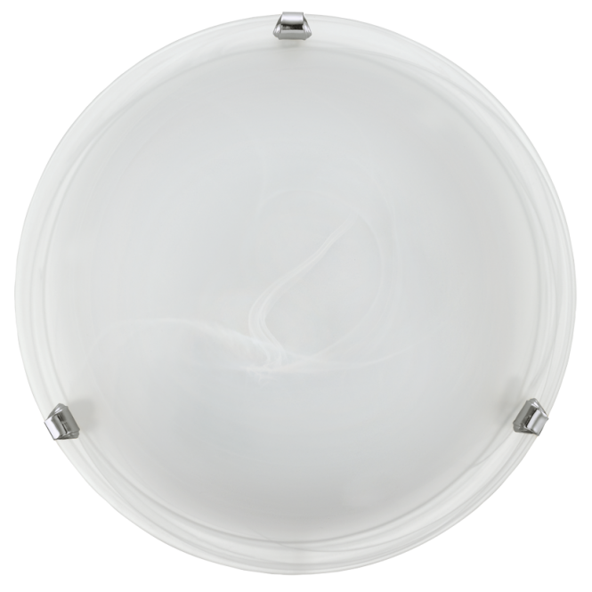 EGLO SALOME white marble glass ceiling light with chrome clips (small)