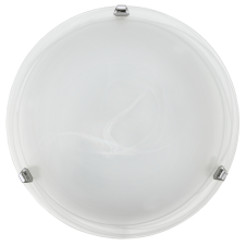 round white marble effect glass ceiling or wall light