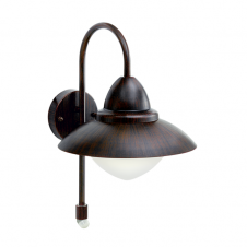 SIDNEY garden wall light with sensor (antique brown)