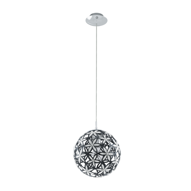 EGLO SILVESTRO black and clear floral ceiling pendant