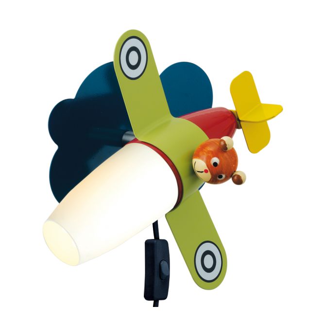 EGLO SIRO 1 child's airplane themed LED wall light