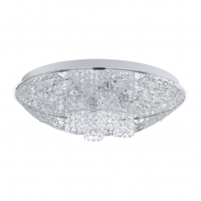 STELARIA 1 chrome and crystal ceiling light (large)