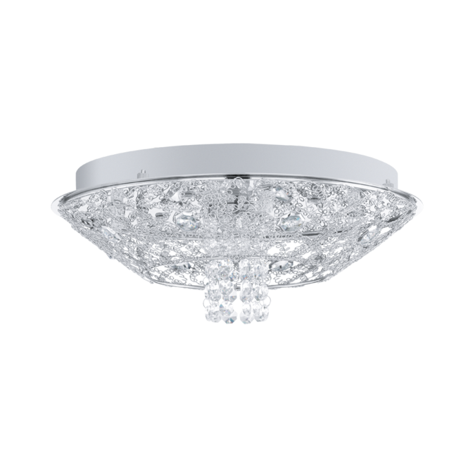 EGLO STELARIA 1 chrome and crystal ceiling light (small)
