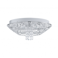 STELARIA 1 chrome and crystal ceiling light (small)