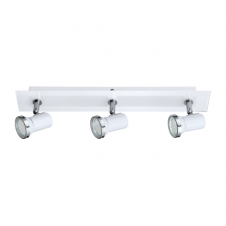 TAMARA contemporary white and chrome 3 light bathroom LED spot light
