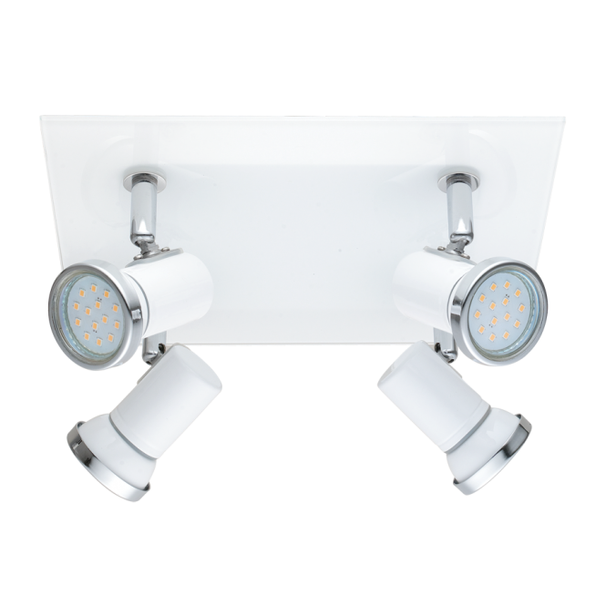 EGLO TAMARA contemporary white and chrome bathroom LED ceiling spot light (4 light)