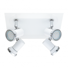 TAMARA contemporary white and chrome bathroom LED ceiling spot light (4 light)