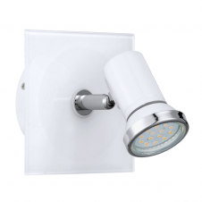 TAMARA contemporary white and chrome bathroom LED spot light