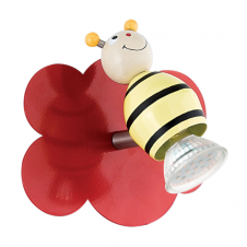 Wall lights and spotlights for childrens rooms taya 1 childrens buzzy bee led wall spot light mozeypictures Images