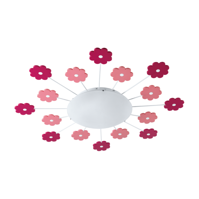 EGLO VIKI 1 children's flower ceiling light with nightlight function