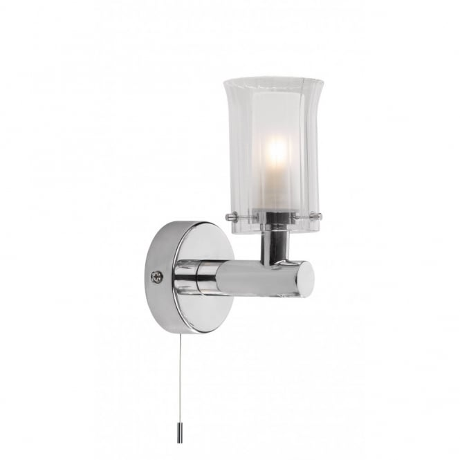 Bathroom wall light for traditional or modern bathrooms pull switch elba single bathroom wall light chrome aloadofball Gallery