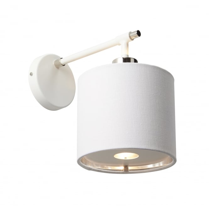 BALANCE contemporary white and polished nickel wall light