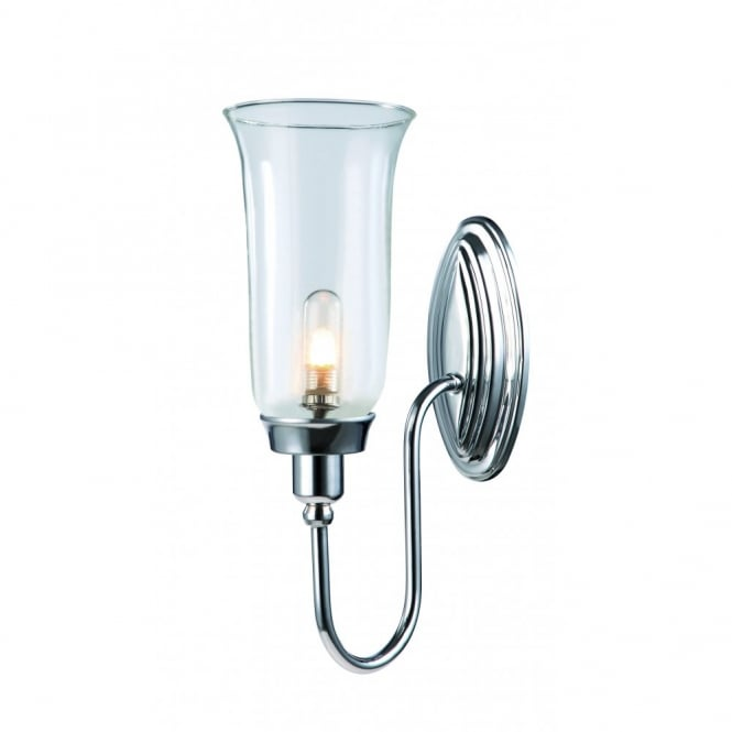 bathroom wall light traditional chrome with clear 14795