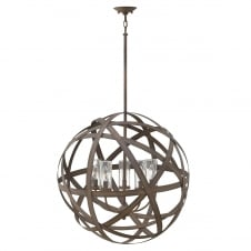 vintage 5 light exterior chandelier in iron finish